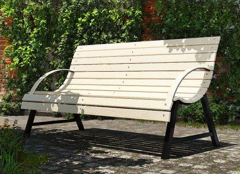 ławka ogrodowa retro